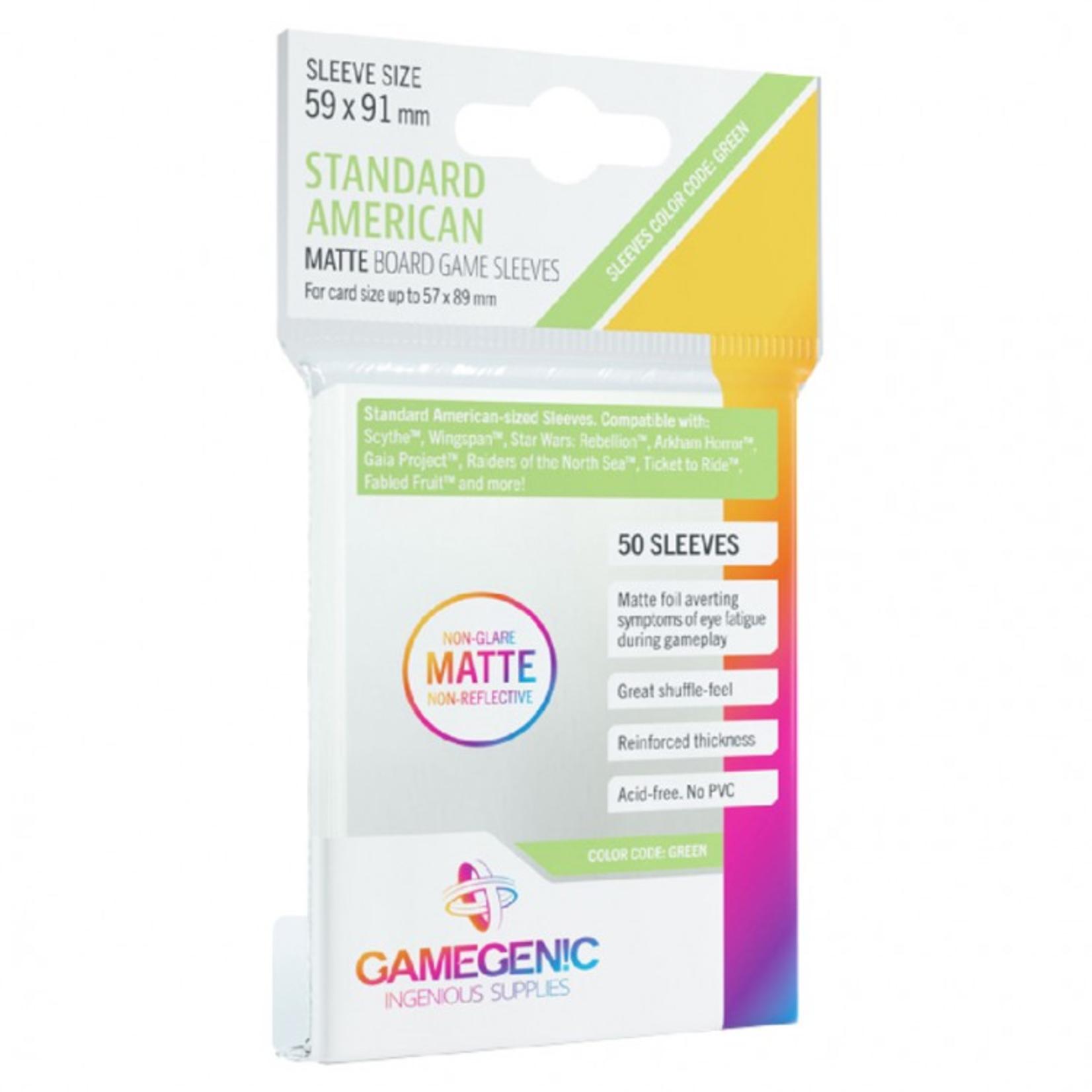 Gamegenic GameGenic Matte Card Sleeves: Standard American (50)
