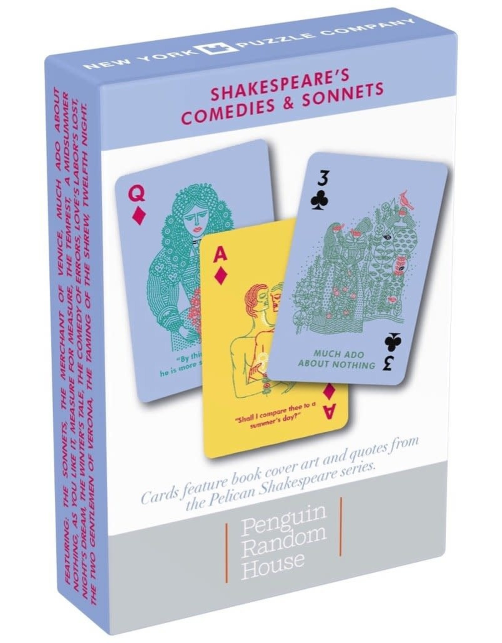New York Puzzle Company Playing Cards: Shakespeare Comedies & Sonnets