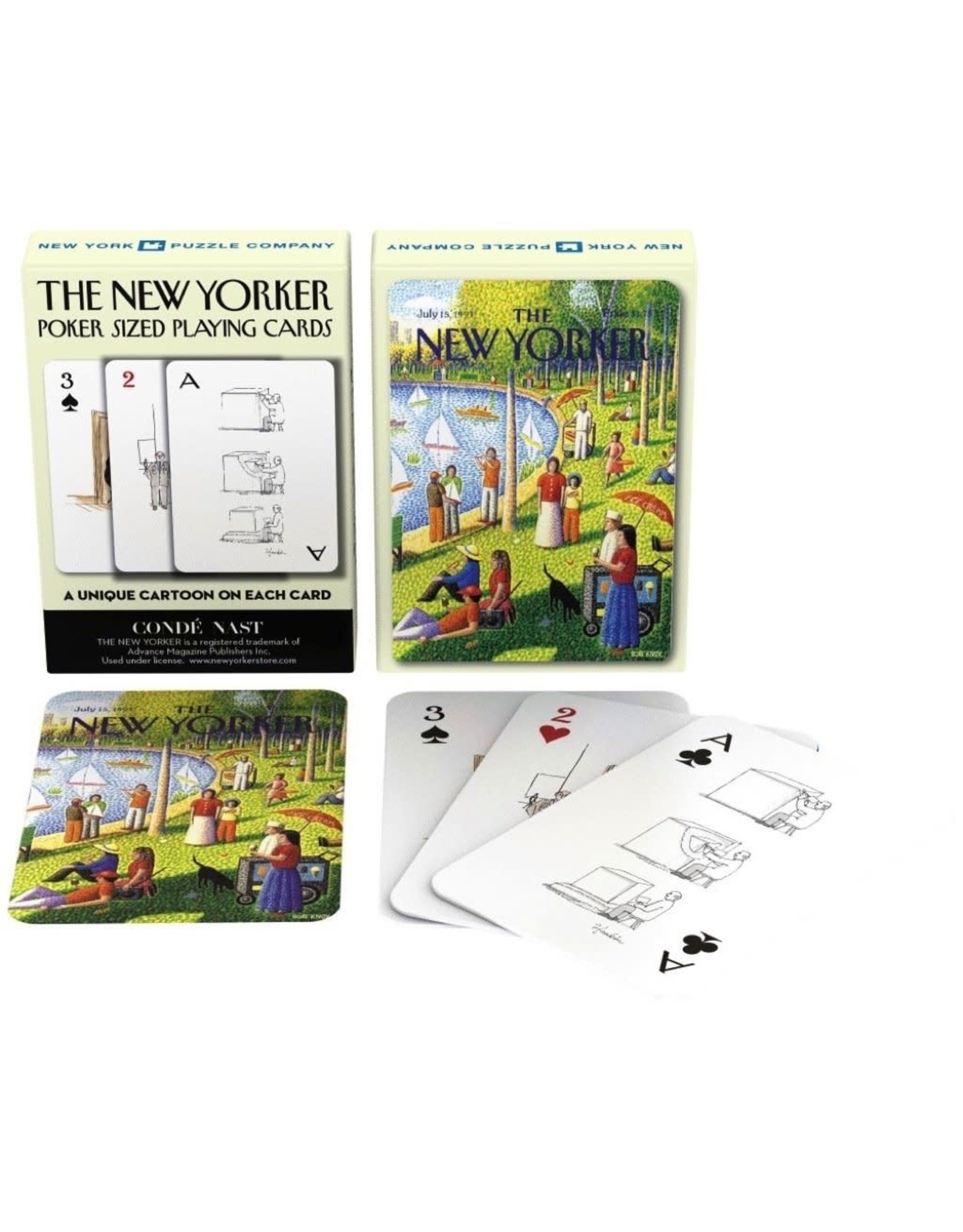 New York Puzzle Company New Yorker Playing Cards: Fine Arts Cartoons