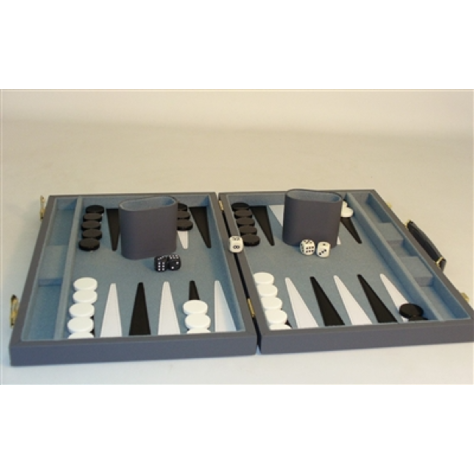 "Worldwise Imports [Pickup Only] Backgammon 15"" Vinyl Gray (WI)"