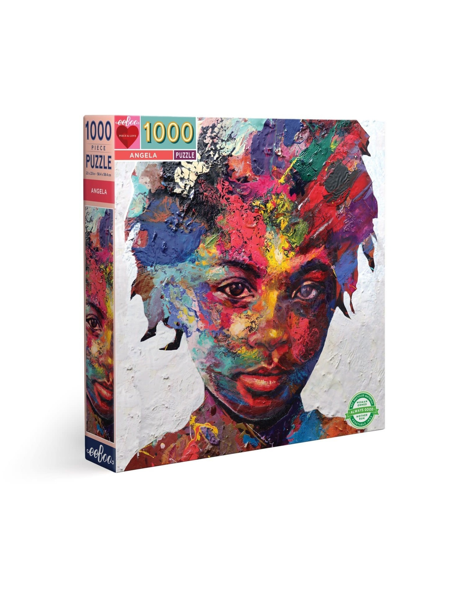 Eeboo Angela by Matt Small - 1000 Piece Jigsaw Puzzle