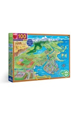 Eeboo Geographical Terms  - 100 Piece Jigsaw Puzzle