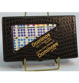 Worldwise Imports Double 9 Dominoes Set with Color Dots