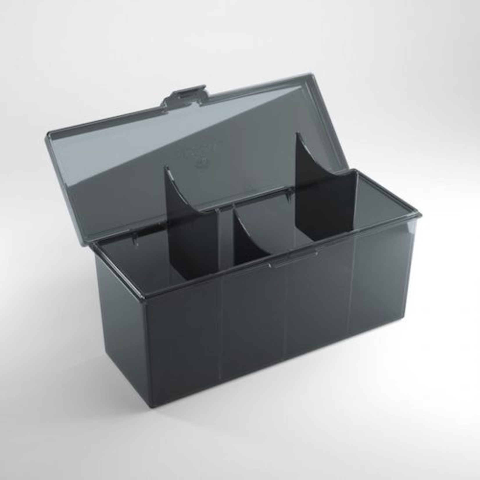 Gamegenic Fourtress Deck Box: Black (320 Sleeved Card Capacity)