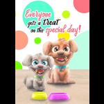 Blue Orange Pop n Play Greeting Card: Puppies