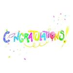 Blue Orange Pop n Play Greeting Card: Congratulations