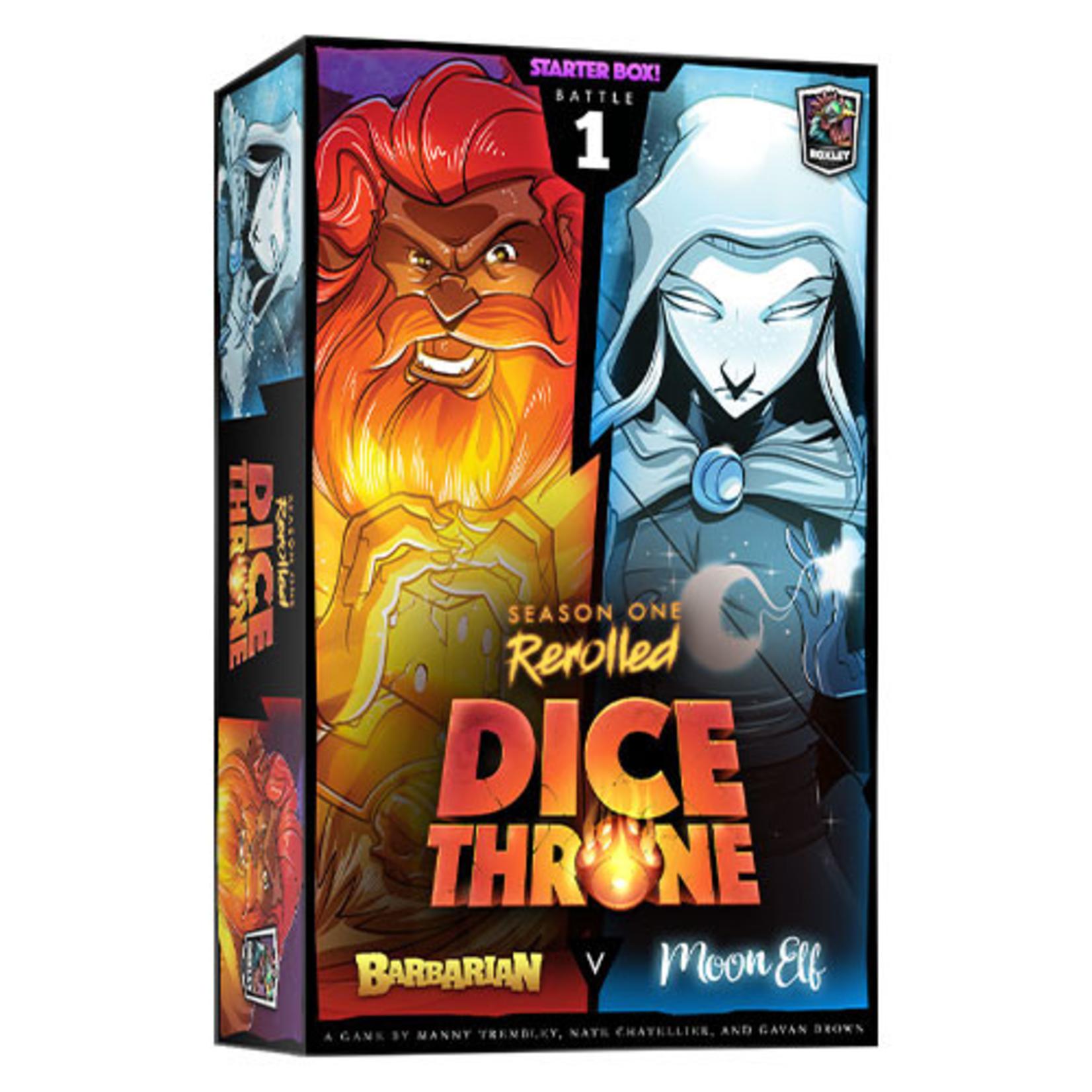 Roxley Dice Throne Season One Rerolled: Barbarian vs Moon Elf