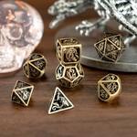 Hymgho Dice US Hymgho 7-Set Hollow Metal Ancient Bronze Dragon Dice