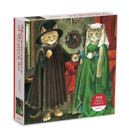 Galison The Arnolfini Marriage Meowsterpiece  - 500 Piece Jigsaw Puzzle