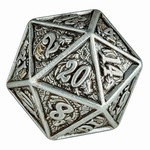 Hymgho Dice US Hymgho d20 Metal Dragon Antique Iron Single