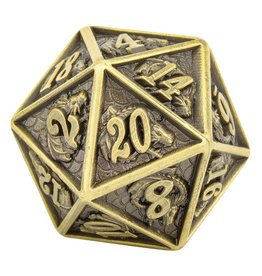 Hymgho Dice US Hymgho d20 Metal Dragon Ancient Bronze Single