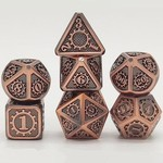 Hymgho Dice US Hymgho 7-Set Gears of Providence Brushed Ancient Bronze Dice Set