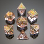 Hymgho Dice US Hymgho 7-Set Captured Magic Pink Resin Dice