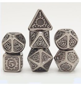 Hymgho Dice US Hymgho 7-Set Gears of Providence Brushed Ancient Iron Dice Set