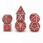 Hymgho Dice US Hymgho 7-Set Metal Dragon Gun Metal and Red Dice