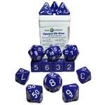 Role 4 Initiative 15-Set Opaque Dark Blue w/  White Numbers (R4I)