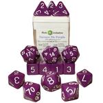 Role 4 Initiative 15-Set Opaque Dark Purple w/ White Numbers (R4I)