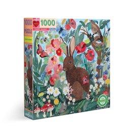 Eeboo Poppy Bunny - 1000 Piece Jigsaw Puzzle