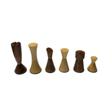 "Wood Expressions Chess Pieces 3"" Modern Acacia/Boxwood"