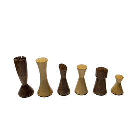 """Wood Expressions Chess Pieces 3"""" Modern Acacia/Boxwood"""