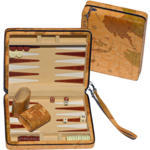 "Wood Expressions Backgammon 9"" Tan Map"