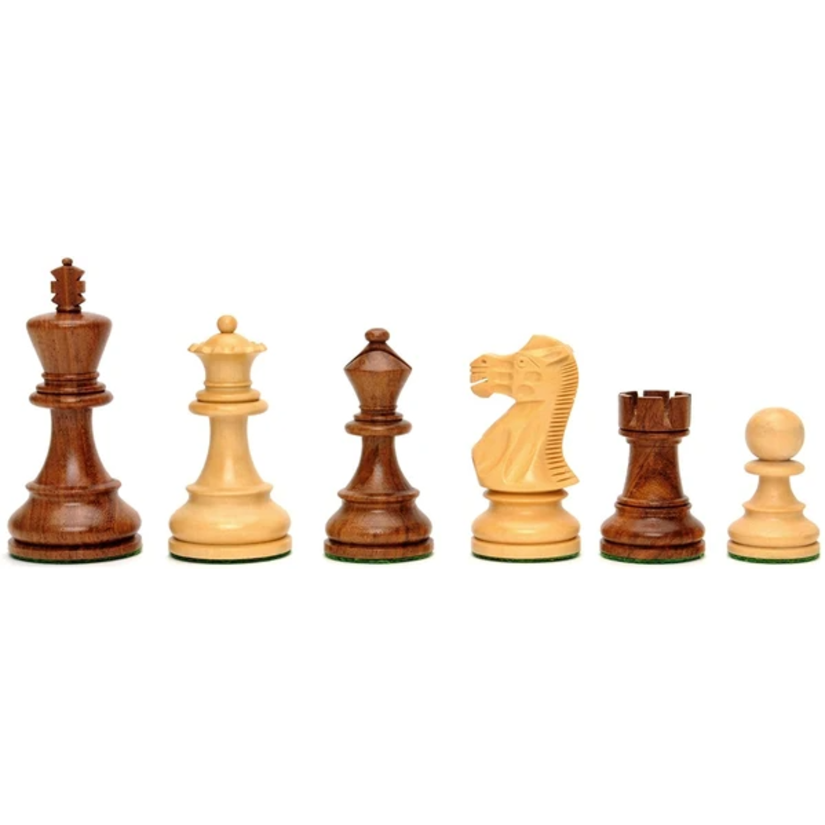 """Wood Expressions Chess Pieces 3.5"""" English Staunton"""