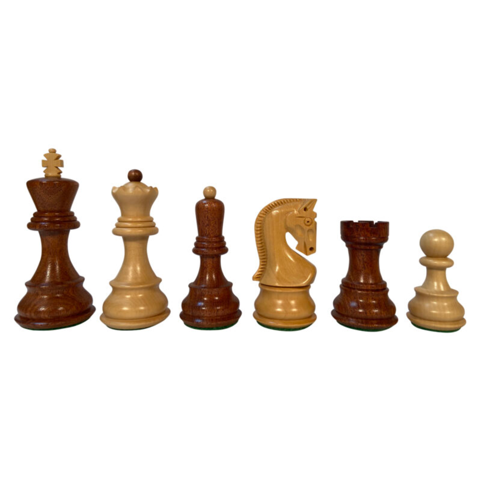 """Wood Expressions Chess Pieces 3.75"""" Zagreb Acacia/Boxwood"""