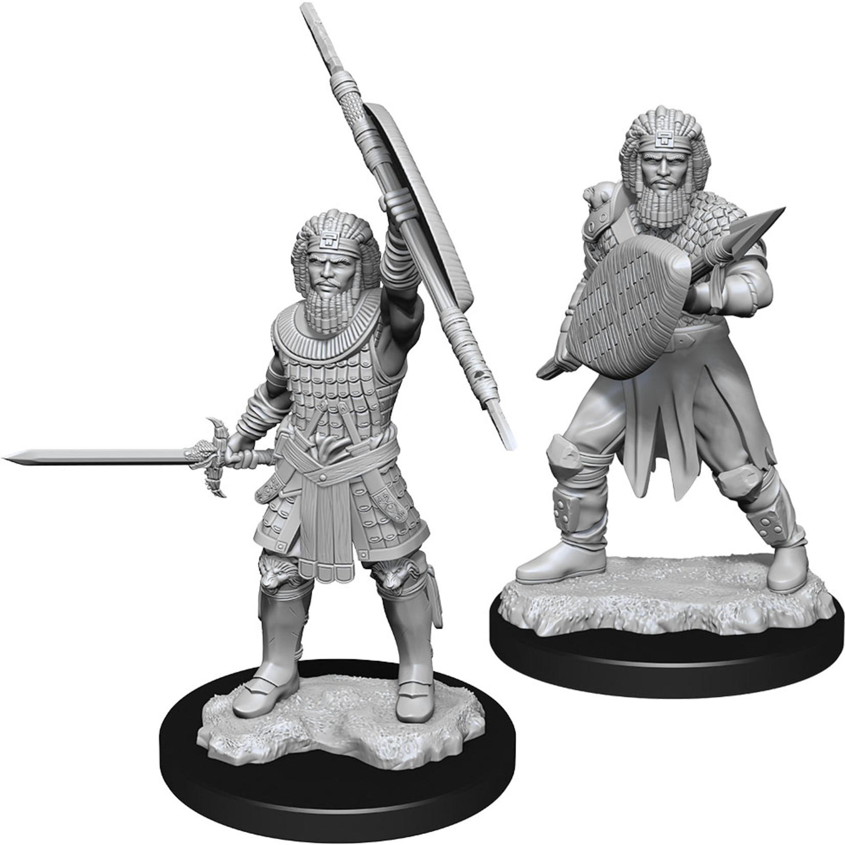 WizKids Minis Dungeons & Dragons (unpainted): Human Fighter (Male) Wave 13