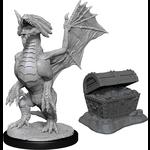 WizKids Minis Dungeons & Dragon (unpainted): Bronze Wyrmling & Treasure Wave 13