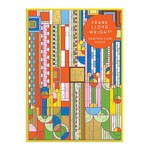 Galison Frank Lloyd Wright Saguaro Forms & Cactus Flowers Greeting Card Puzzle - 60 Piece Jigsaw Puzzle