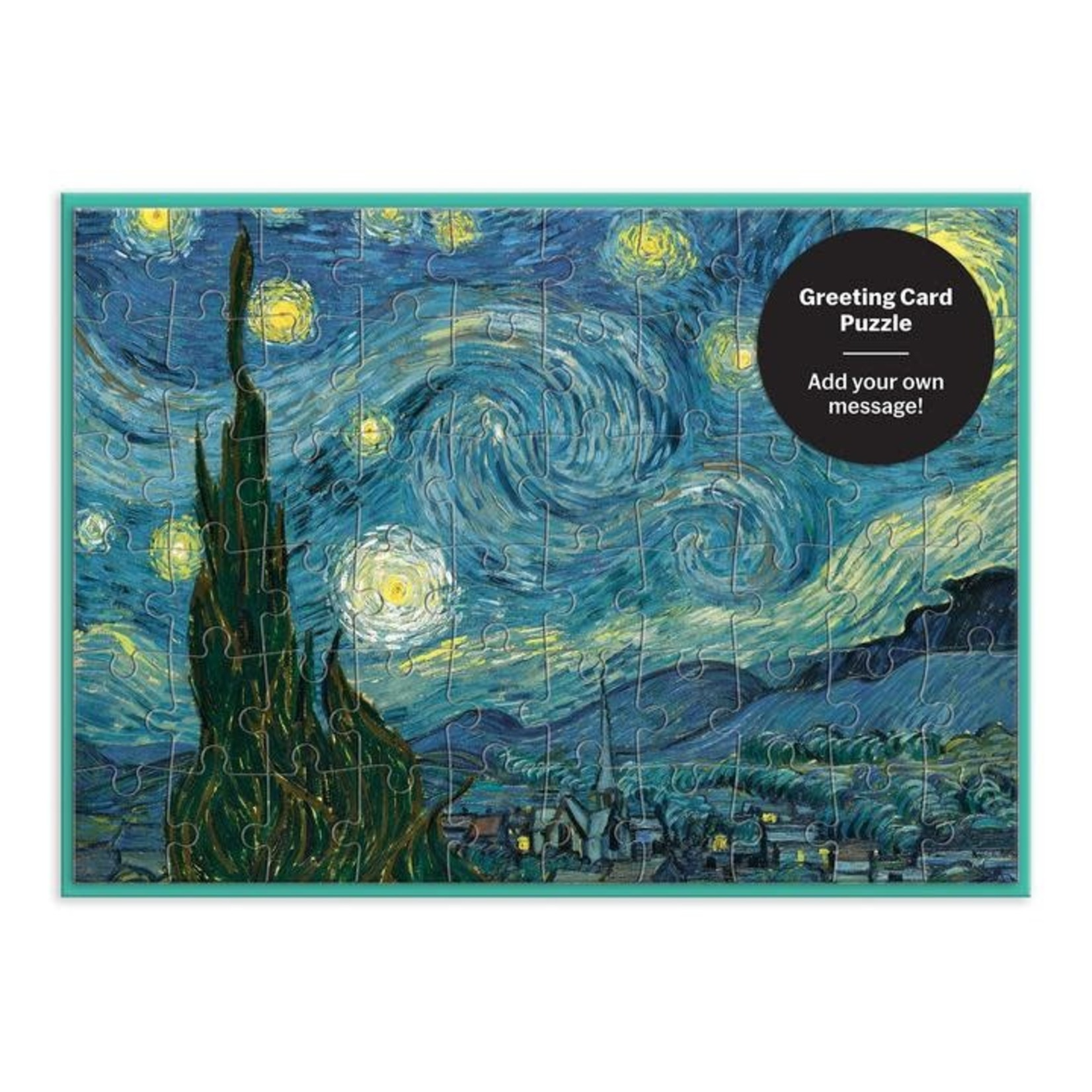 Galison MoMA Starry Night Greeting Card Puzzle - 60 Piece Jigsaw Puzzle