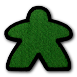 G-Wiz Green Meeple Player Patch