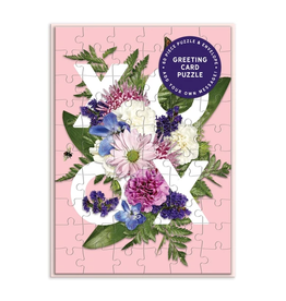Galison Say It With Flowers XOXO Greeting Card Puzzle