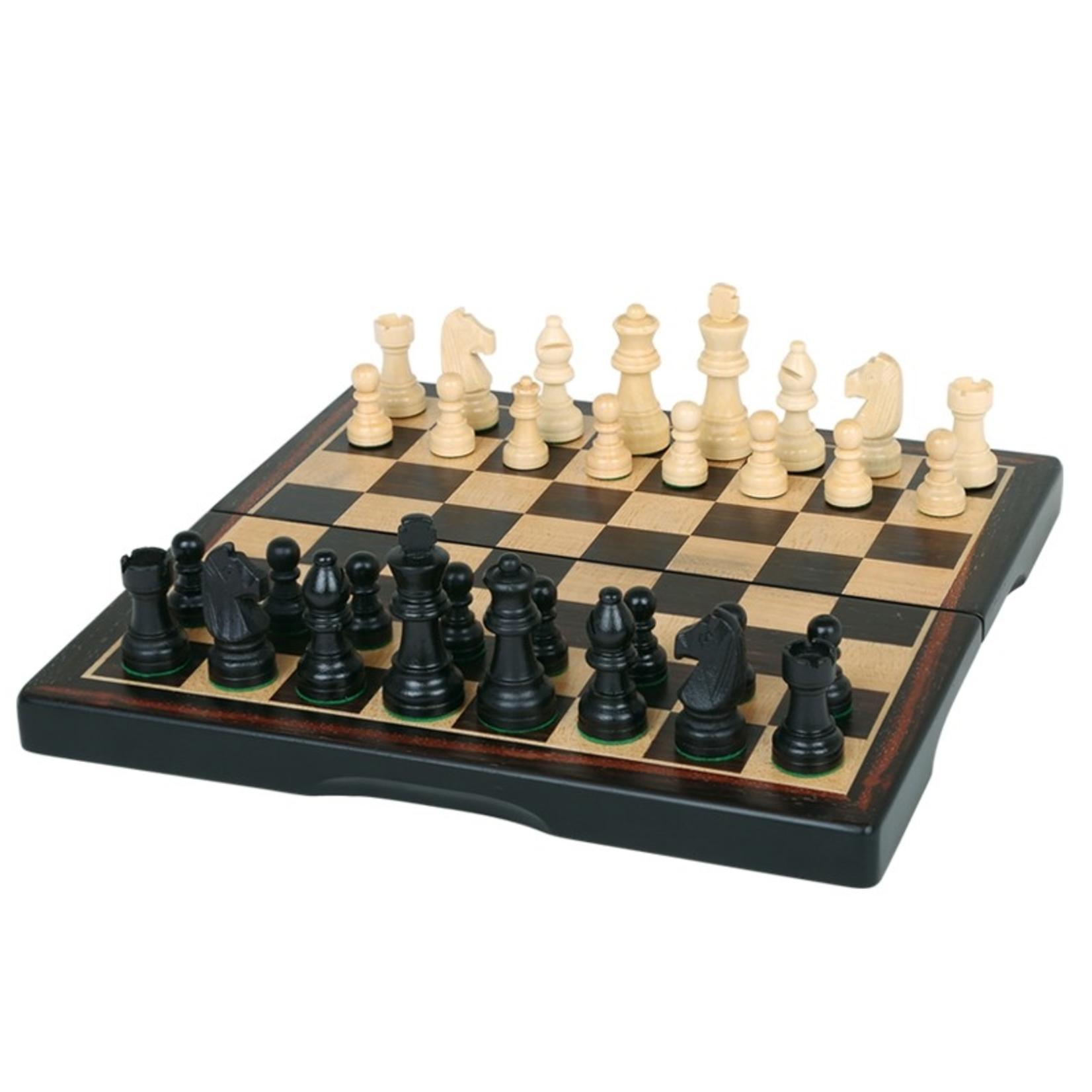 """Worldwise Imports Chess Set 11"""" Ebony 3-in-1"""