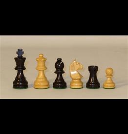 "Worldwise Imports Chess Pieces 3.5"" Black Staunton German"