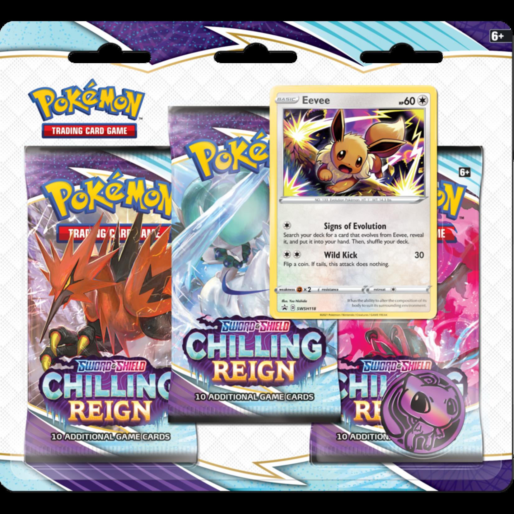 Pokémon Pokémon TCG: Sword & Shield—Chilling Reign Three-Booster Blister