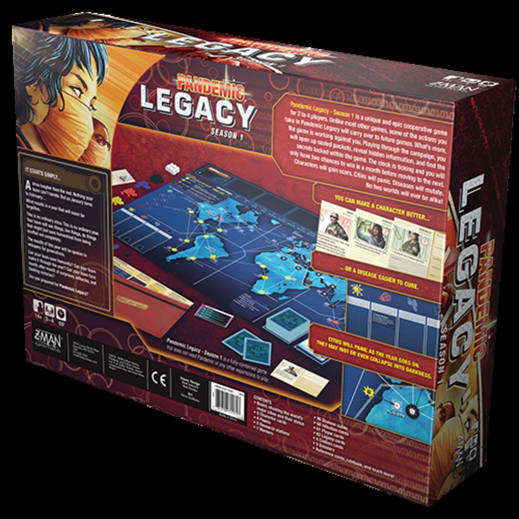 Z-MAN Games Pandemic Legacy: Season 1 (Red Edition)