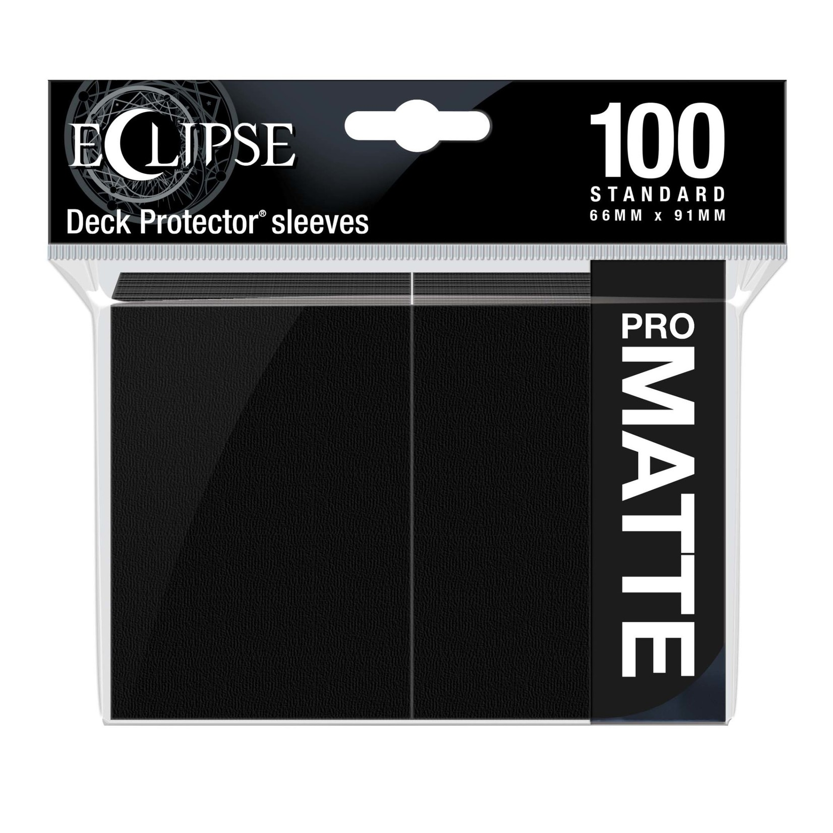 Ultra Pro Eclipse Matte Standard Sleeves: Jet Black (100)