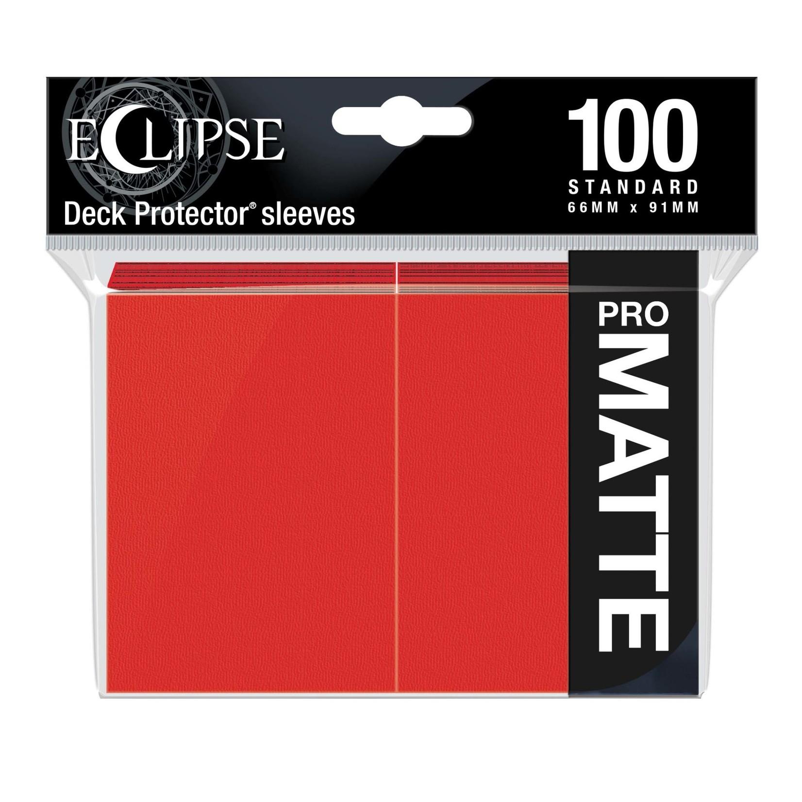 Ultra Pro Eclipse Matte Standard Sleeves: Apple Red (100)