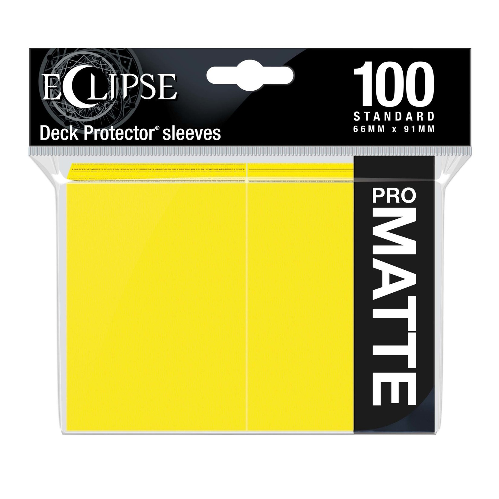 Ultra Pro Eclipse Matte Standard Sleeves: Lemon Yellow (100)