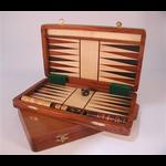 """Worldwise Imports Backgammon 12"""" Folding Wood"""