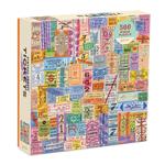 Galison Vintage Travel Tickets - 500 Piece Jigsaw Puzzle