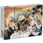 Galison Meowsterpiece of Western Art: Luncheon of the Boating Party   - 1000 Piece Jigsaw Puzzle