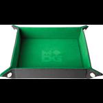 "Metallic Dice Games MDG Velvet Folding Dice Tray (10"" x 10"" Green)"