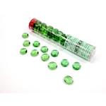 Chessex Glass Stones Tube (Light Green)
