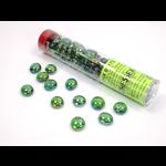 Chessex Glass Stones Tube (Green Iridized)