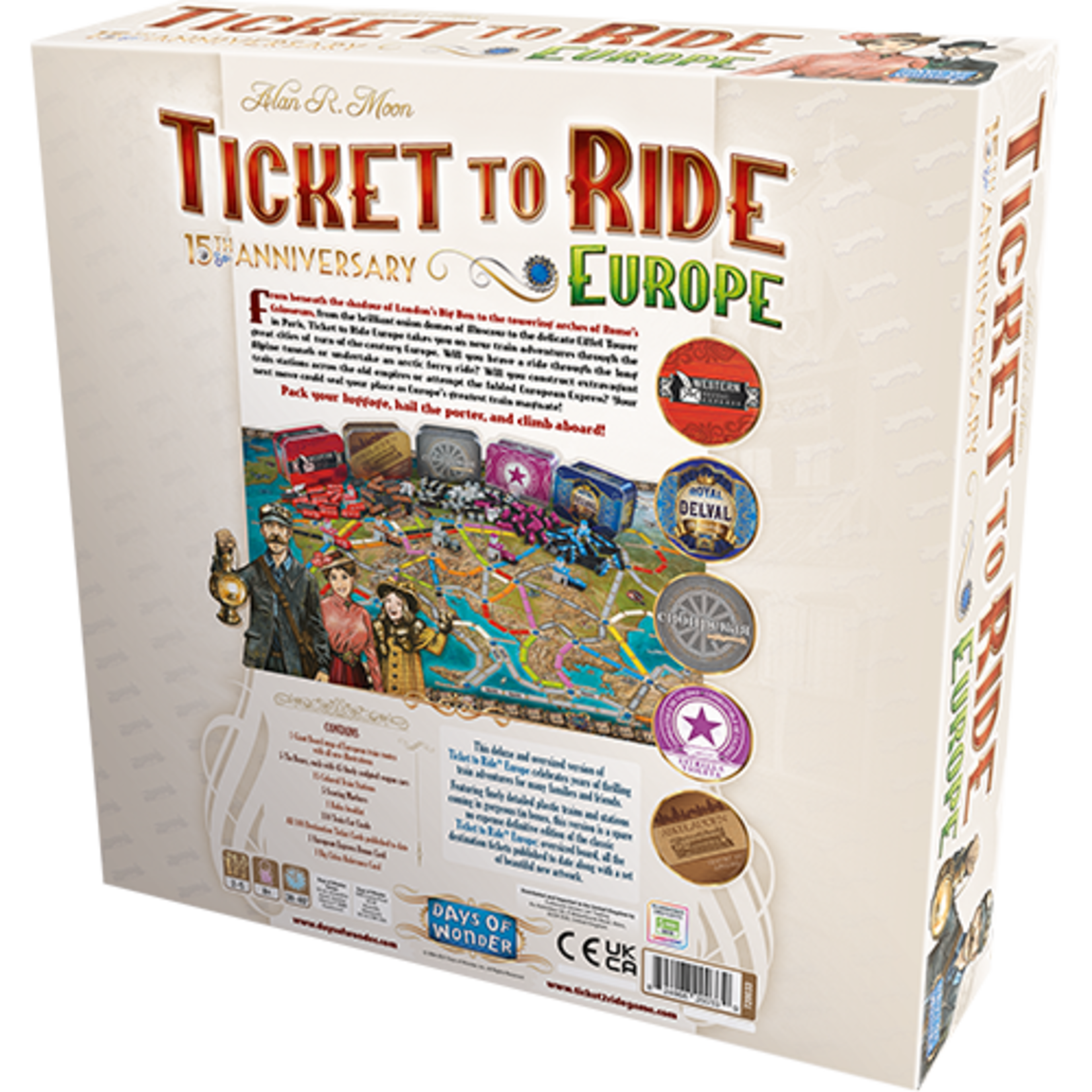 Days of Wonder Ticket to Ride Europe: 15th Anniversary Edition