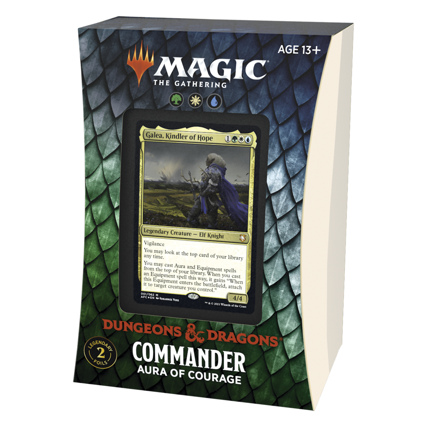 Magic: The Gathering Magic: The Gathering - Adventures in the Forgotten Realms Commander Deck - Aura of Courage