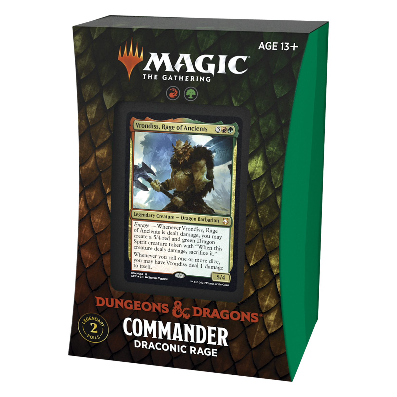 Magic: The Gathering Magic: The Gathering - Adventures in the Forgotten Realms Commander Deck - Draconic Rage
