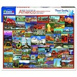 White Mountain Puzzles Best Places in America 1000 Piece Jigsaw Puzzle